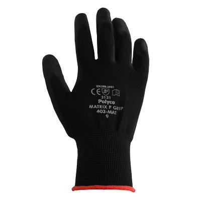 Polyco Matrix P Grip Black Safety Gloves 400 Mat